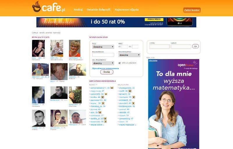 Randki przez internet na Cafe.pl