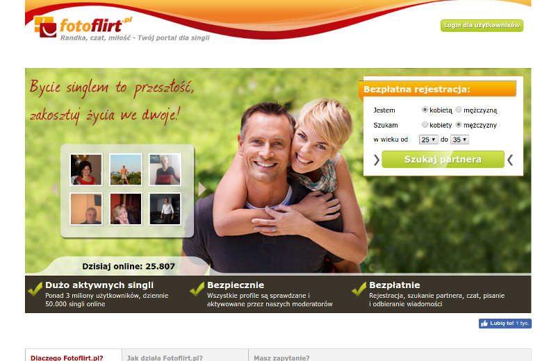 Jak sama nazwa już mówi fotoflirt.pl bazuje na fotografiach