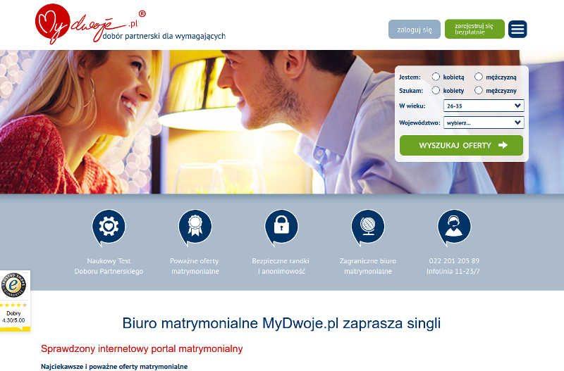 Zakochana para na stronie MyDwoje.pl