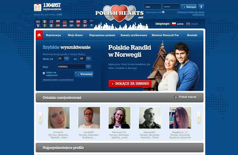 Niebieska okładka randek dla Polaków w Skandynawii