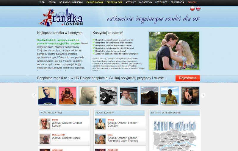 Prezentacja strony randek w Londynie