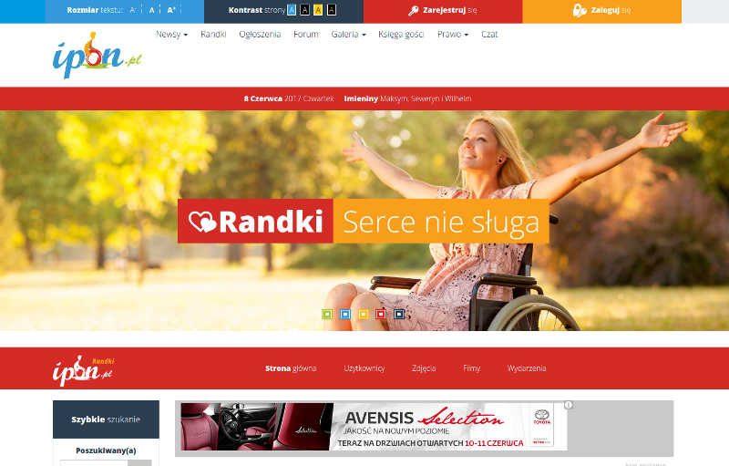 Kolorowa strona randek dla osób niepełnosprawnych
