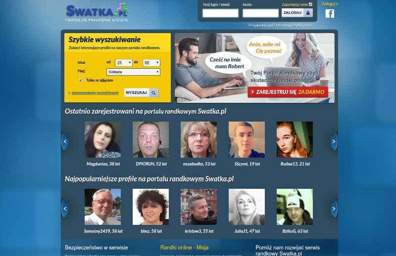 Widok strony głównej swatla.pl