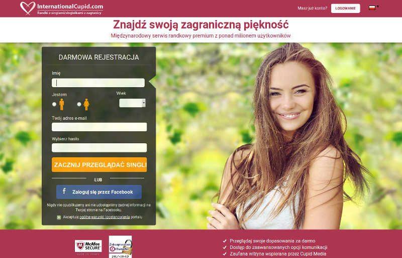 Strona logowania www.internationalcupid.com