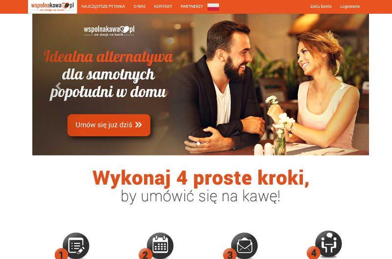 Umawianie się na kawę przez portal www.wspolnakawa.pl