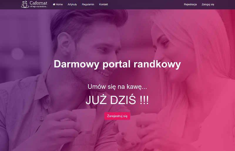 Cafomat.pl to darmowy serwis randkowy