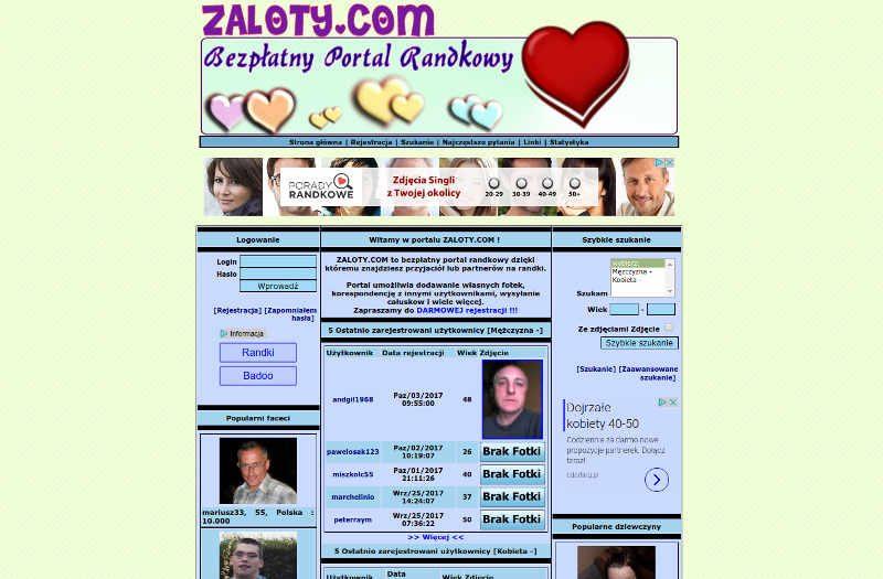 Randki Warszawa i nie tylko na portalu Zaloty com