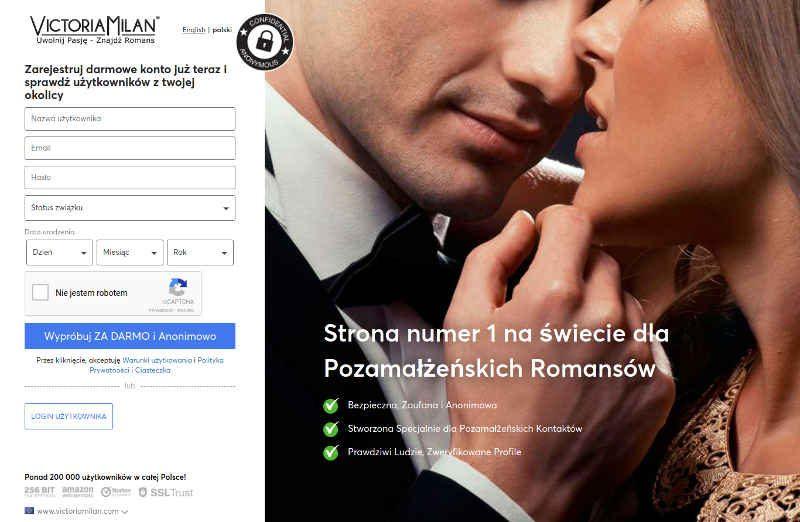 Matrymonialne ogłoszenia dziewczyn i chłopaków na portalu randkowym VictoriaMilan.com
