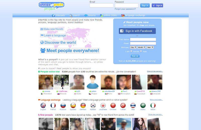 Strona do poznawania językowych znajomych