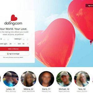 Duze czerwone serca na oładce strony Dating com