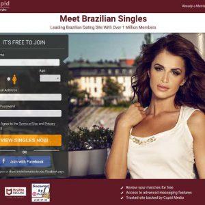 Brazylijska dziewczyna na okładce strony