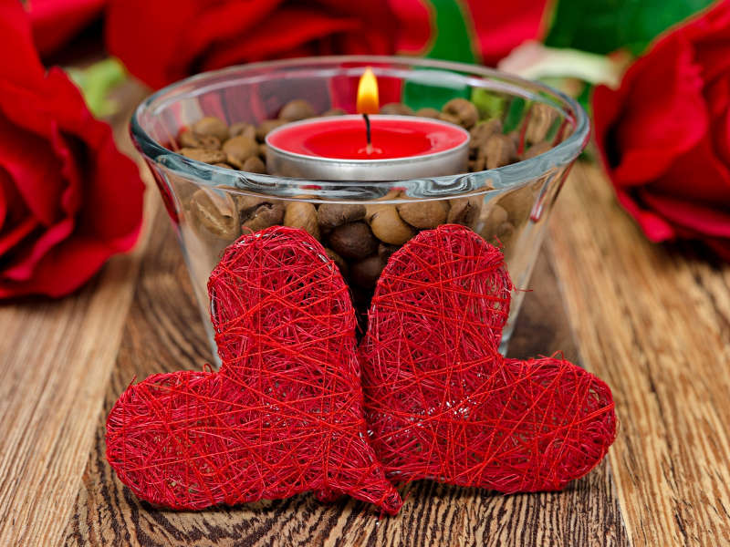 Walentynkowe czerwone serca